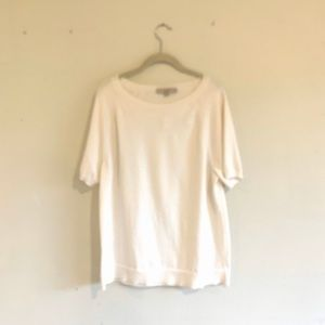 LOFT | Size XXL | NWT | Short Sleeve Cream Sweater